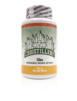 30mg CBD Isolate Infused Softgels -THC FREE, 60 Count